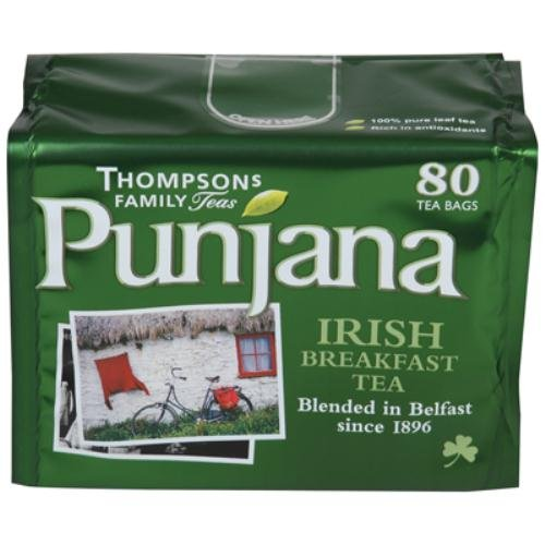 51gUualIIWL # Thompsons Punjana, Tea Leaf Irish Brkfst, 80 BG (Pack of 8) Discount !!