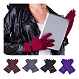 Ladies Thinsulate Insulation Winter Fleece Outdoor Gloves TouchScreen leather bowknot Terylene lined Magic Gloves grip knitted gloves Ski Bike Cycle Gloves for Cell smart Phone/iPhone/iPad/iTouch/HTC/Tablet/Blackberry/Samsung/sat nav/ATM xmas gift for he
