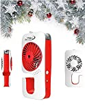 Portable Fan - Outdoor Misting Fan Personal Mister for Cooling Spray with USB Power Cord and Adapter (Red) by JZK