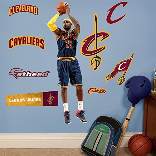 NBA Cleveland Cavaliers LeBron James Fathead Junior Wall Decals, 13