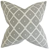 The Pillow Collection P20-ROB-SOUK-DOVE-C69-P31 Fallon Geometric Pillow, Dove, 20