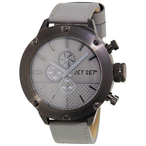 Jet Set Hommes Montre chronographe de Mirage Gris/Noir j7468b-230