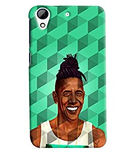 Clarks Man Smiling With Prism Effect Hard Plastic Printed Back Cover/Case For HTC Desire 626