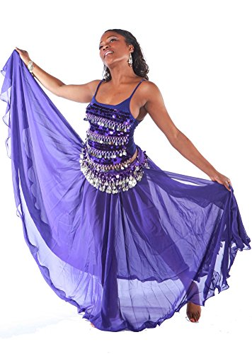 Belly Dance Skirt, Top & Hip Scarf Costume Set | Masri Moves