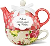 Pavilion Gift 49005 You and Me Tea for One Teapot Set by Jessie Steele