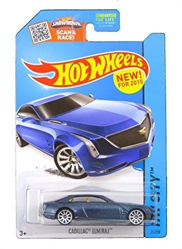 2015 Hot Wheels Hw City (25/250) : Cadillac Elmiraj - Blue (Cadillac Hot Wheels compare prices)