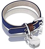 Hennessy & Sons Hand Made Scottish Waxed Cotton Dog Collar, 18 - 25 x 1.4 x 0.3 cm, 50 g, Navy Blue
