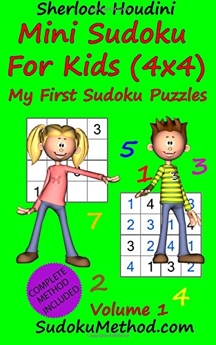 Sudoku For Kids book - mini puzzles 4x4