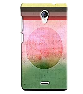 Blue Throat Old Stipes Patternprinted Designer Back Cover/ Case For Micromax Unite2 (A106)