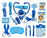 Deluxe Blue Doctor Medical Kit Playset for Kids - Pretend Play Tools Toy Set
