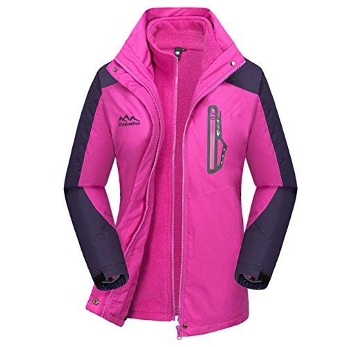 Bcamel Women's Winter Thicker Fleece Hooded Windproof Waterproof Insulated Warm Snowboard Ski Jacket Coat Outdoor Wear