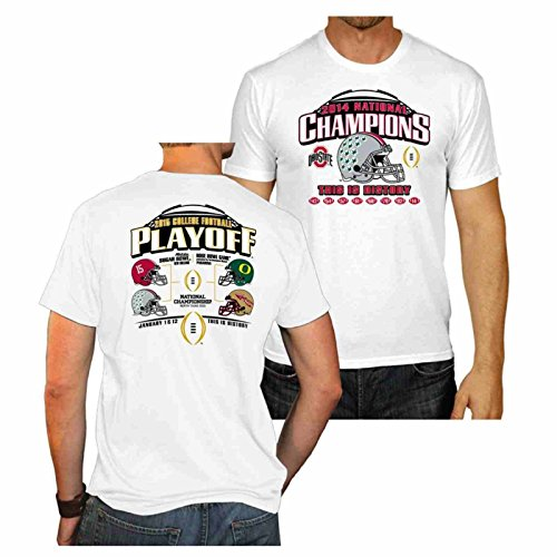 Ohio State Buckeyes 2015 College Football Champions White T-Shirt (S) (Osu Buckeyes National Champions compare prices)