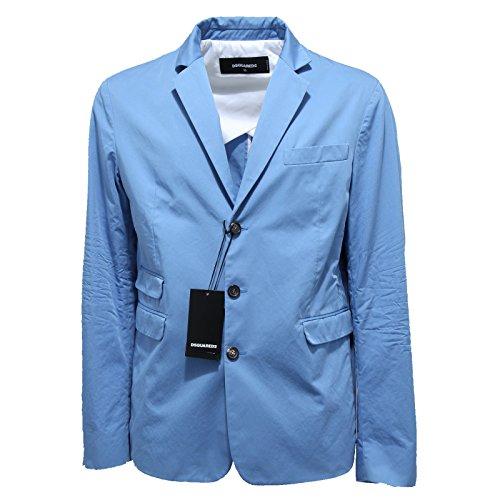3025N giacca uomo DSQUARED azzurro jacket coat men [52]