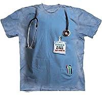 The Mountain Cotton Nurses Job Design Novelty Adult T-Shirt (Blue)