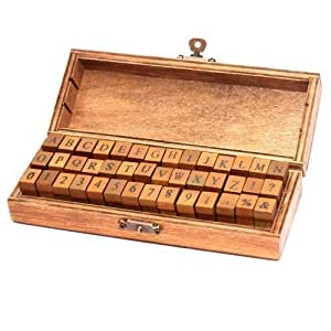 Stempel alphabet und zahlen a z stempelset in edlem for Stempel amazon