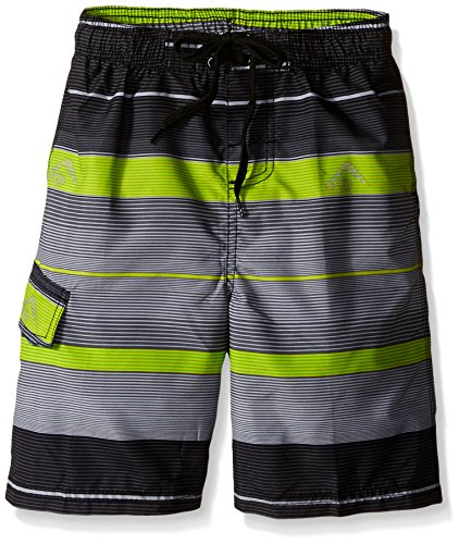 Kanu Surf Little Boys Specter Swim Trunks, Charcoal, Medium (5/6)