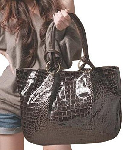 Women'S Croco Faux Leather Tote Handbag Satchel, Large Shoulder Hobo Bag Purse, Gift Idea