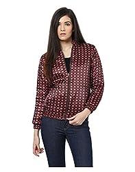 Yepme Sherlyn Printed Full Sleeves Jacket - Brown -- YPMJACKT5167_M