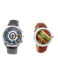 Foster's Men's Grey Dial & Foster's Women's Multicolour Dial Analog Watch Combo_ADCOMB0002336