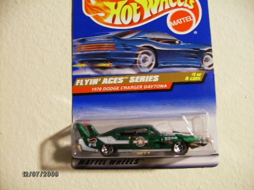 Hot Wheels 1970 Dodge Charger Daytona 1998 Flying Aces Series #737 with 5 Spoke Wheels - 1