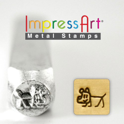 ImpressArt- 6mm, Dog- Stick Figure Design Stamp