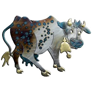 Daisy The Cow Design Metal Wall Art from Richard Pell Creative Metalwork