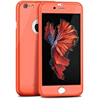 Willnorn Norn One Full Body Slim Case with Tempered Glass Screen Protector for iPhone 6 (Salmon Pink)
