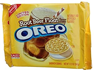 Nabisco, Oreo, Root Beer Float Creme, Vanilla Sandwich Cookies, Limited Edition, 12.2oz Bag (Pack of 2)