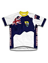 Saint Helena Flag Short Sleeve Cycling Jersey for Women