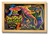 51gVLAUZsAL. SL160  Melissa & Doug Magnetic Wooden Dinosaurs in a Box