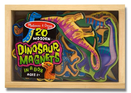 Melissa & Doug Magnetic Wooden Dinosaurs in a Box - 1