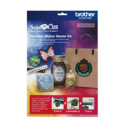 Brother ScanNCut CAPSKIT1 Printable Sticker Starter Kit (Brother Starter Embroidery Kit compare prices)