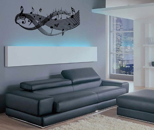 Clef Music Notes - Vinyl Wall Art Decal Stickers Decor Graphics