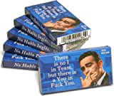 Theres No I in Team, But Theres a You in f*** You Gum (6 Packs) Funny Gum - Gag Gift - Blue Q