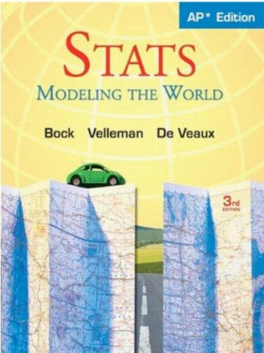 Stats: Modeling the World Nasta Edition Grades 9-12 PDF