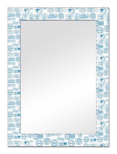 The Attic Morgan Mirror Frame (Glossy Finish, Brown)