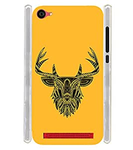 Indian Deer Graphics Soft Silicon Rubberized Back Case Cover for LYF Wind 6 :: Reliance Jio LYF Wind6