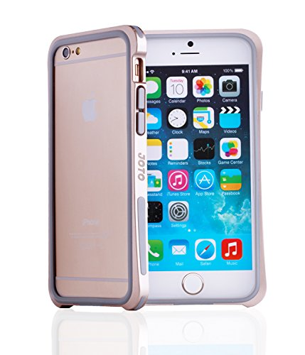 "Joto Iphone 6 4.7 Bumper Case - Premium Hybrid Bumper Case Exclusive For Apple Iphone 6 4.7"" (2014), Dual Layer Bumper Case For Iphone 6 (Metal Gold Pc + Grey Tpu)"