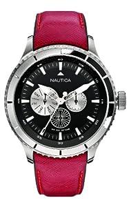 Nautica Men's Quartz Watch A18659G with Leather Strap