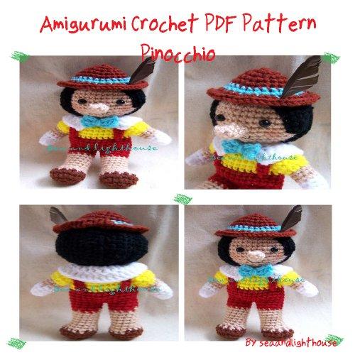 Pinocchio Amigurumi Crochet Pattern