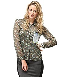 Yepme Women's Olive & Multicolor Tops YPMTOPS0620_XL