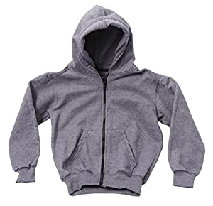 Caldore unisex Fleece zip up hoodie dark Gray Size M5-6