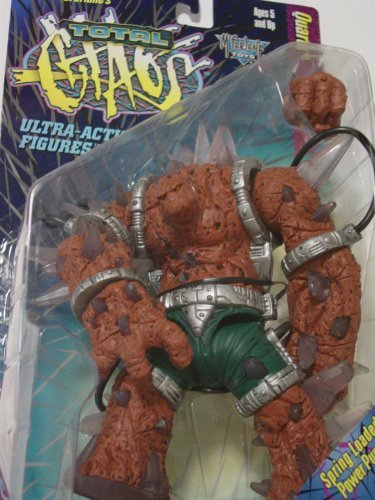 "MCFARLANE - TOTAL CHAOS "" QUARTZ "" ACTION FIGURE with SPRING LOADED SUPER POWER PUNCH"