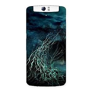 Delighted Tree Horror Back Case Cover for Oppo N1