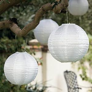 Solar Shoji Outdoor Japanese-Inspired Lanterns, Set Of 3
