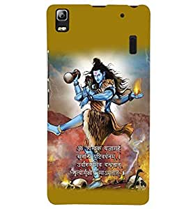 printtech Lord Shiva Maha Dev Back Case Cover for Lenovo K3 Note