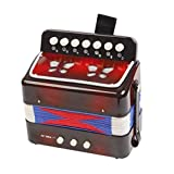 Ta Musical Instrument Mini Accordion Toys For Toddlers Kids Black