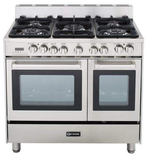 Verona VEFSGE365DSS 36 Dual Fuel Double Oven Range - Stainless Steel