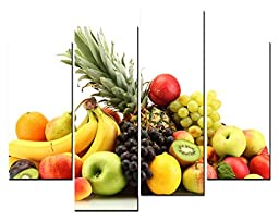 Canval prit painting Food Wall Art Many Kinds of Fruit Pineapple & Banana 4 Pieces Picture on Canvas
