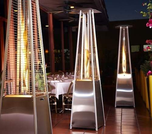 Home & Garden Direct Floor Standing Stainless Steel Living Flame Patio Heater